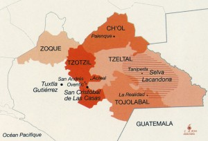 Chiapas - carte des ethnies