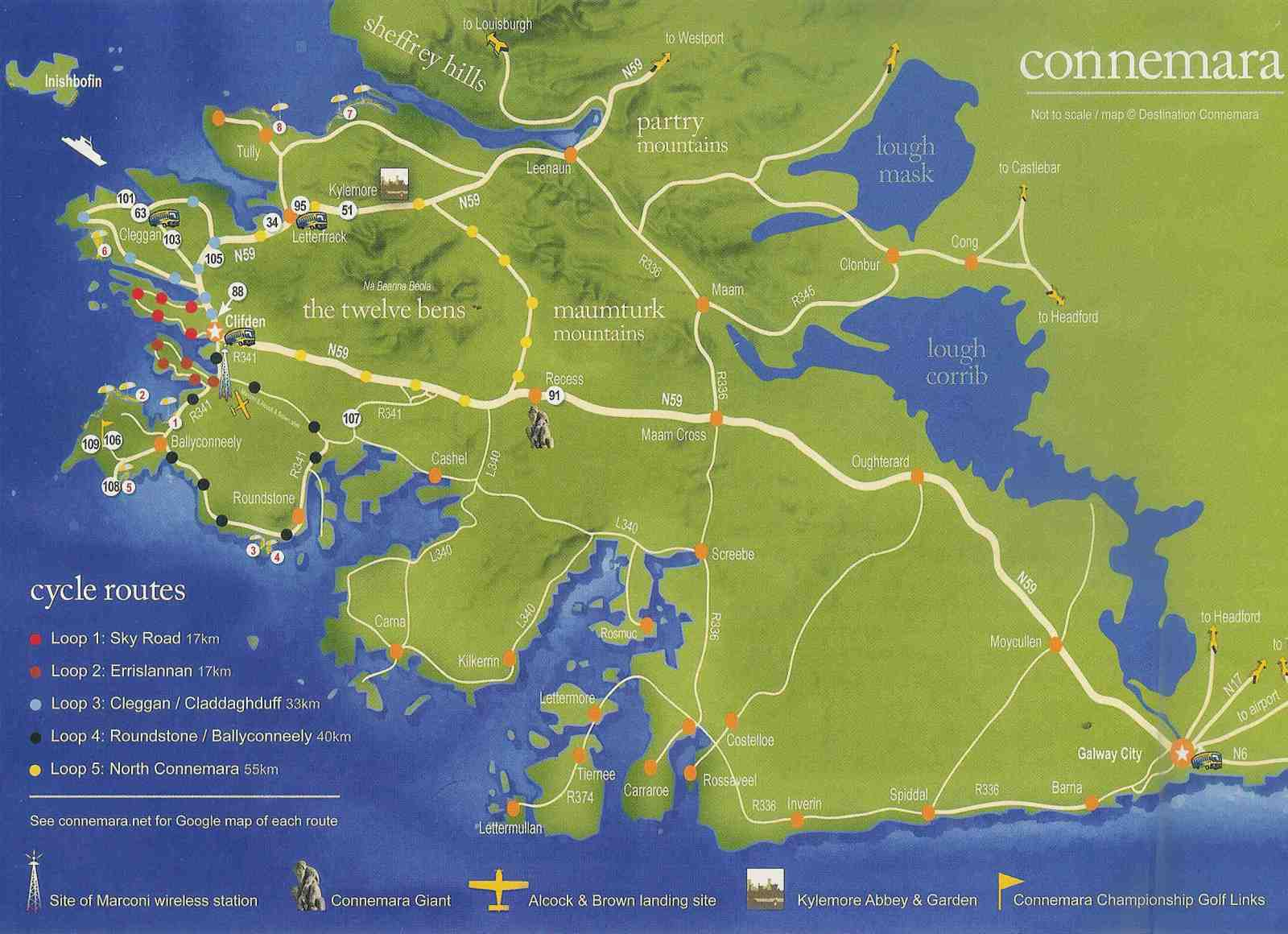 Office de tourisme irlande carte - Office de tourisme irlandais ...