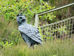 Ecosse : Attadale Gardens, crowned eagle