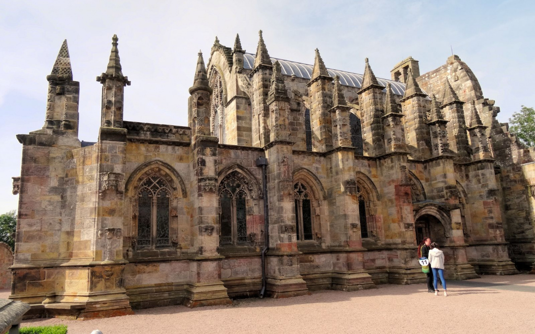 Ecosse : Rosslyn Chapel, face nord