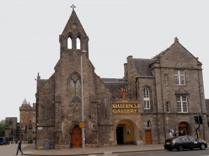 Ecosse : Edimbourg, Holyrood palace, queens gallery